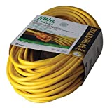 extension cord 100 ft - Coleman Cable 01289 100-Foot All-Weather 16/3 Extension Cord with Lighted End