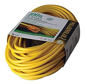 coleman cable 01289 100 foot all weather 16 3 extension cord with lighted end. Black Bedroom Furniture Sets. Home Design Ideas