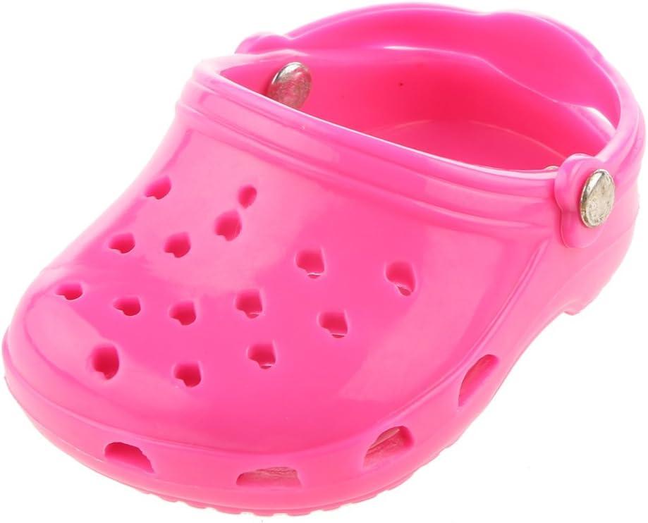 MagiDeal Sandalias de Playa Zapatos Rosa para Muñecas Moda