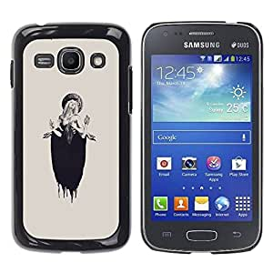 LASTONE PHONE CASE / Slim Protector Hard Shell Cover Case for Samsung Galaxy Ace 3 GT-S7270 GT-S7275 GT-S7272 / Lucia Woman Beige Ink Deep