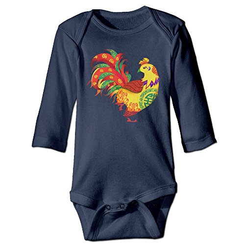 BABYSUIT SD Year Of The Rooster Unisex Baby Cotton Long Sleeve Rompers Sleep and Play