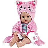 "Adora BathTime Kitty 13"" Girl Washable Play Doll with Open/Close Eyes for Children 1+ Soft Cuddly Huggable QuickDri Body for Water Fun Toy"