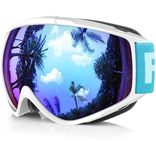 - findway Ski Goggles, Snow Snowboard Snowboarding Sports Goggles Glasses - for Women Men Ladies Youth Teen OTG Over Helmet Compatible - Anti-Fog 100% UV Protection, Anti-Glare Ski Goggles for Skiing