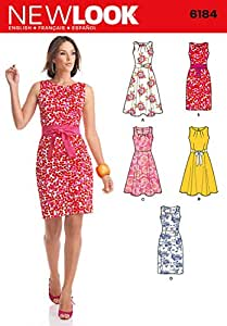 Simplicity Creative Patterns New Look 6184 Misses' Dresses, A (8-10-12-14-16-18)