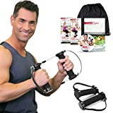 Best Resistance Bands Exercise Kit - Gwee Gym PRO Total Body Workout Kit - All in One Portable Gym Equipment with Workout DVD, Travel Bag and Healthy Eating e-Book