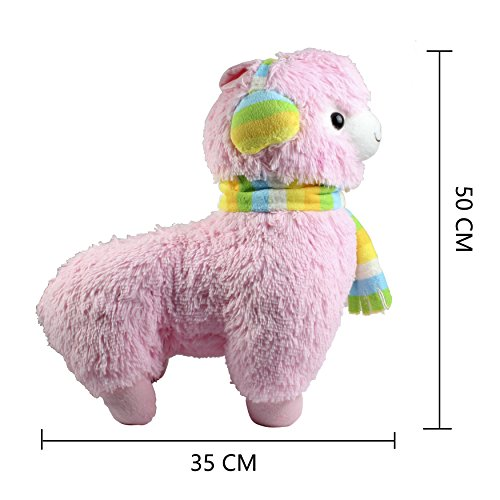 KSB 18'' Giant Pink Scarf And Earmuff Plush Alpaca,100% Plush Stuffed Animals Doll Toys,Best Birthday Gifts For The Children Kids Photo #4