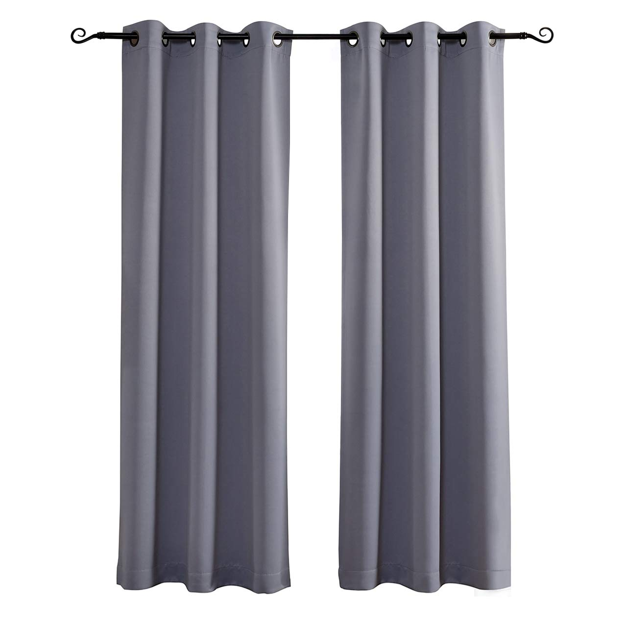 MYSKY HOME Grommet Top Thermal Insulated Window Blackout Curtains, 42 x 84 Inch, Grey, 1 Panel