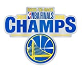 NBA Golden State Warriors Back to Back 2017-2018 NBA Champions Auto Badge Decal, hard thin plastic 4 inches round