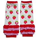 Huggalugs Baby Girls Very Berry Red Strawberry Legwarmers Infant