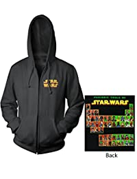 Star Wars Periodic Table Mens Zip-Up Hoodie Sweatshirt | L