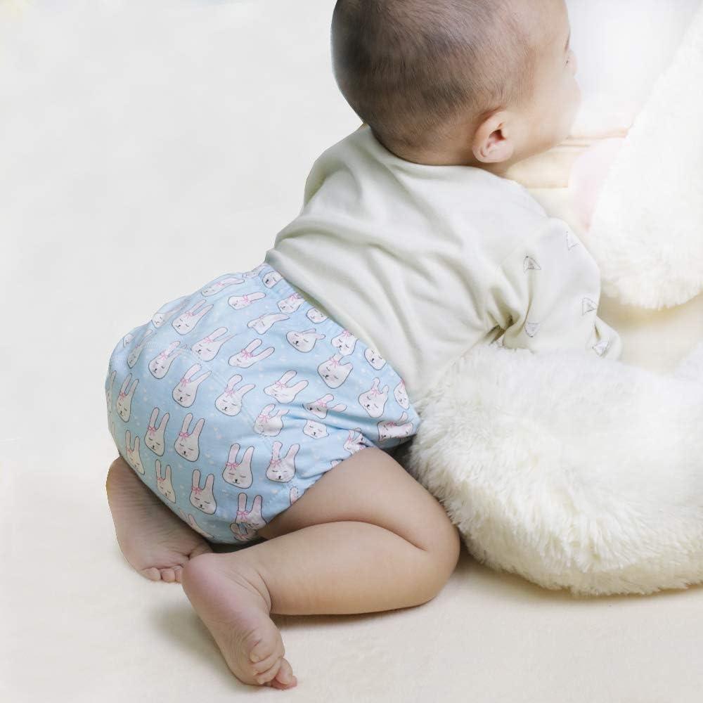 U0U 4 Pack Toddler Potty Training Pants Layered Cotton Training Underwear for Toddlers Girls Boys