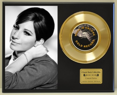 Barbra Streisand Limited Edition Gold 45 Record Display. Only 500 made. Limited quanities. FREE US SHIPPING by...