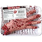 """Amscan Chopped Hand Meat Market Shop Value Pack Halloween Party Decoration, Brown/Red, 8 1/2"""" x 5 1/2"""" x 2"""""""