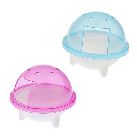 B Blesiya 2Pcs Jaula Desmontable Baño Externo Hamster Rata Anti ...