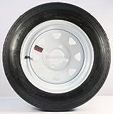 "Trailer Tire + Rim 4.80-12 480-12 4.80 X 12 12"" LRB 4 Lug Wheel White Spoke"