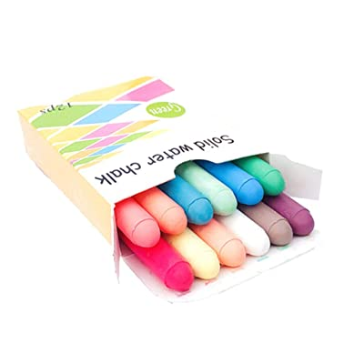 1Box/12 Piece Children Kids Pavements Sidewalk Chalk Nontoxic Dustless Washable Chalks for Outdoor Side Walk Outside Driveway: Arts, Crafts & Sewing