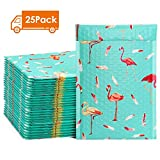 Metronic 25pcs Flamingo Poly Bubble Mailers 6x10