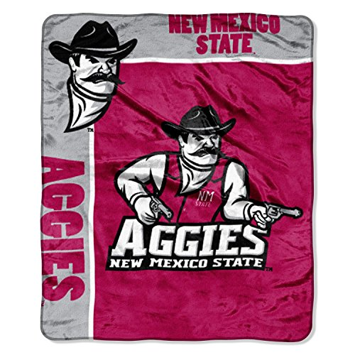 Officially Licensed NCAA New Mexico State Aggies School Spirit Plush Raschel Throw Blanket, 50