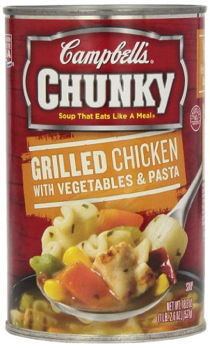 Campbell's Chunky Soup, Grilled Chicken with Vegetables & Pasta, 18.6 oz. (Pack of - Soup Chicken Grilled