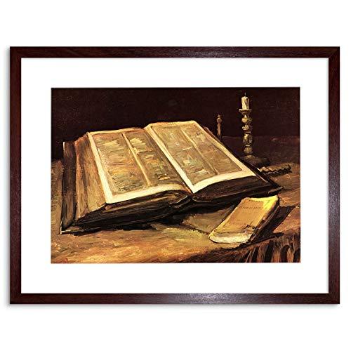Painting Van Gogh Still Life With Bible Framed Wall Art Print