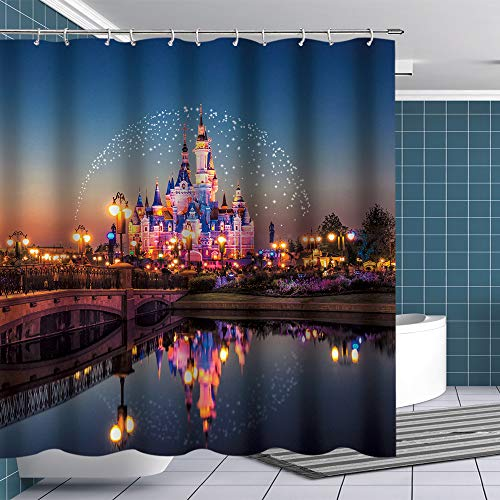 Btty Shower Curtain Fairyland for Kids Bathroom,Polyester Waterproof Bathroom Curtain with Hooks for Bathroom Showers, Stalls and Bathtubs, 70x70 Inches
