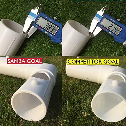 weatherproof Garden Goal Posts with Football Nets Portable Samba 8 x 4ft Football Goal easy assembly