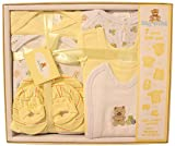 Big Oshi Layette Baby Gift Set, 7-Piece - Boxed, Complete With A Gift Tag And Pretty Bow - Perfect Baby Shower Gift - Yellow