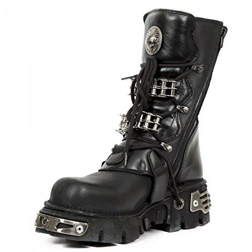 Nuovi Stivali Di Roccia M.1037-s1 Hardrock Motociclista Stiefel Unisex Schwarz