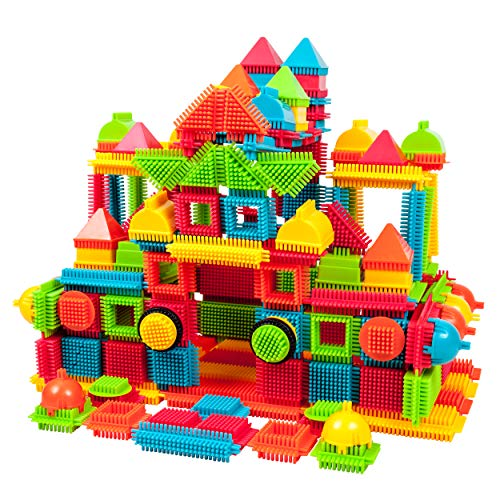 PicassoTiles PTB240 240pcs Bristle Shape 3D STEM Building Blocks Tiles Set Construction Learning Toy Stacking Educational Block, Creativity beyond Imagination, Inspirational, Recreational, Educational