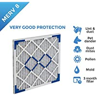 15x20x1 MERV 8 Pleated AC Furnace Air Filters. 4 Pack