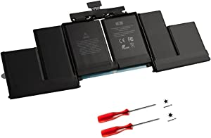 GWY-TECH New Replacement Laptop battery A1618 for Macbook Pro 15 inch A1398 Retina [2015 Version], Fit 020-00079 MJLQ2LL/A MJLT2LL/A [11.36V 99.5Wh]