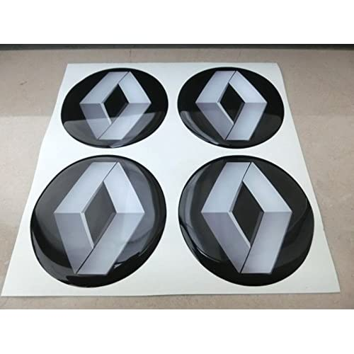 50mm noir tuning effet 3d 3m résine caches roues enjoliveurs Caps autocollants stickers pour jantes en alliage x 4pièces