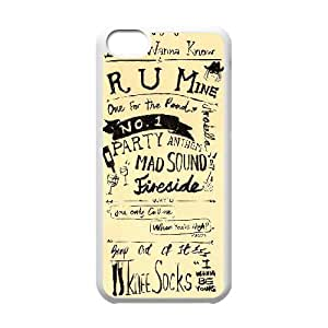 Rock band Arctic Monkey Hard Plastic phone Case Cover For Iphone 5c ART136990