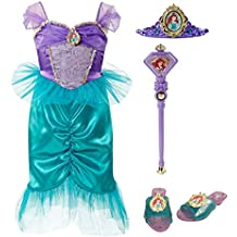 Disney Princess 94904 Ariel Tiara to Toes Dress Up Set Costume