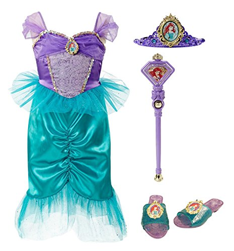 Disney Princess 94904 Ariel Tiara to Toes Dress Up Set Costume (Princess Ariel Tiara)