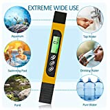 Sodoop Meter Digital Water Test Meter, Accurate Professional 0-9999 ppm Meter with Carrying Case, Ideal ppm Meter for Household Drinking Water, Fish Tank, Pool, Pond,Aquariums and More (Yellow)