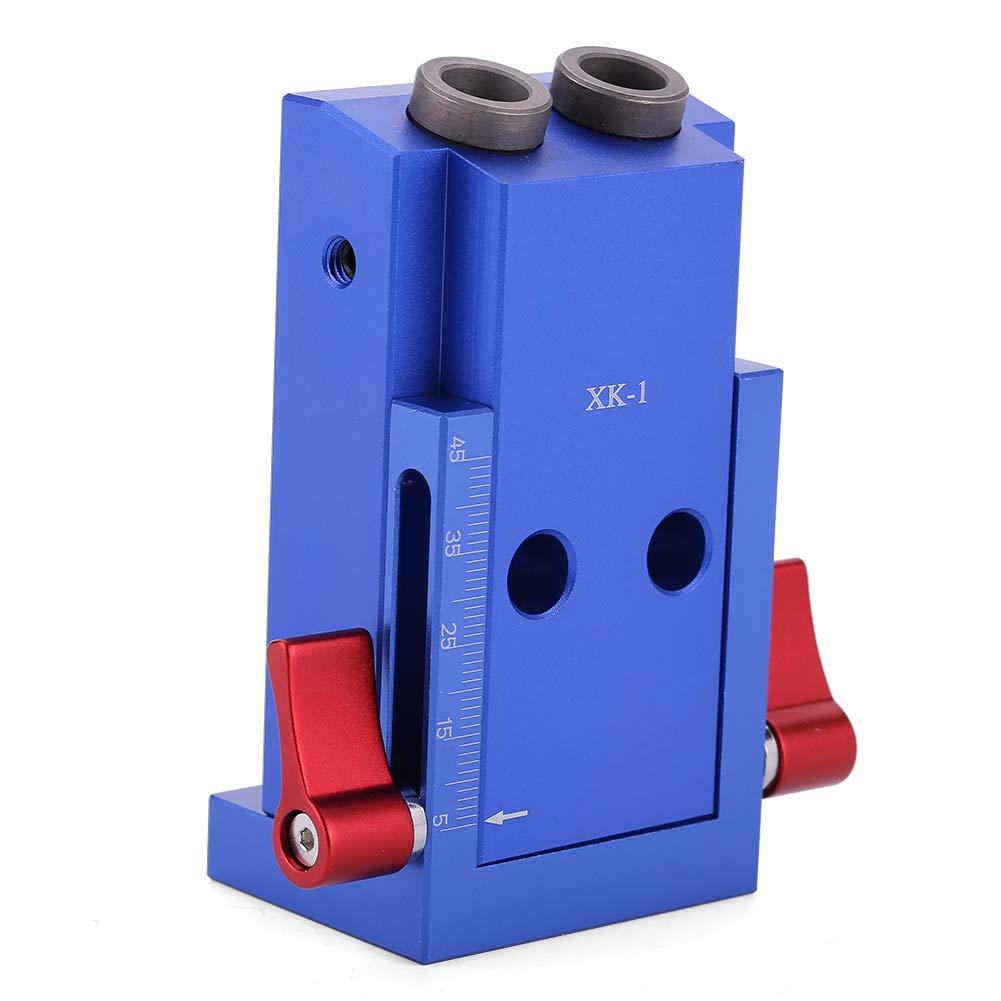 Fdit Mini Pocket Hole Jig Kit Drill Guide with Drill Bit Screwdriver Bit Woodworking Joint Tool