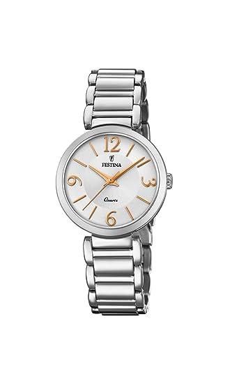 Festina Reloj Análogo clásico para Mujer de Cuarzo con Correa en Acero Inoxidable F20212/1: Festina: Amazon.es: Relojes