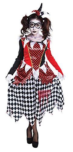 Ladies Scary Harlequin Girl Costume