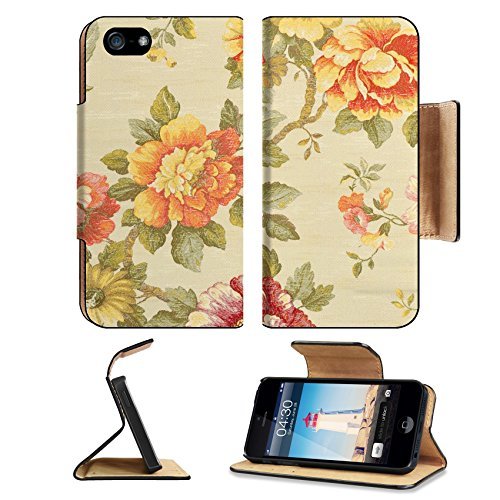 Luxlady Premium Apple iPhone 5 iphone 5S Flip Pu Leather Wallet Case iPhone5 IMAGE ID: 18242642 decorative fabric wallpaper