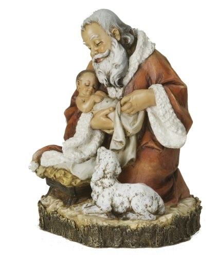 - Joseph's studio by Roman The Kneeling Santa Figurine 11-1/2-Inch (36935)