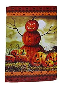 "12x18 12""x18"" Happy Halloween Jack O Lantern Man Vertical Sleeve Flag Garden Vivid Color and UV Fade Resistant Canvas Header and polyester material"