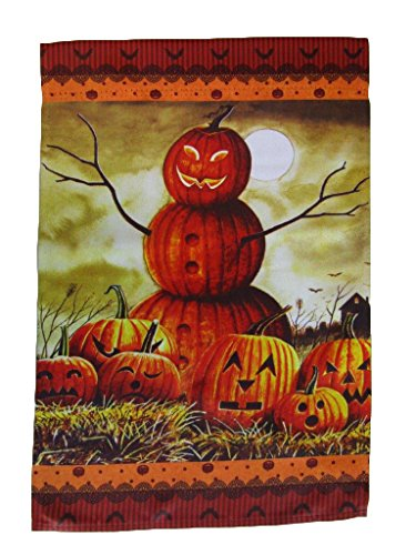ALBATROS 12 inch x 18 inch Happy Halloween Jack O Lantern Man Vertical Sleeve Flag for Garden for Home and Parades, Official Party, All Weather Indoors Outdoors]()
