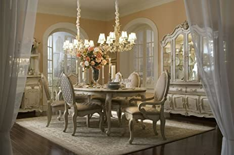 Lavelle Blanc Oval Dining Room Set (7 Pc)   Aico 54000 04SET7