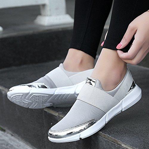 Cybling Andas Platta Sportsportskor För Kvinnor Tillfälliga Rinnande Resor Sneaker Mjuk Sula Vita