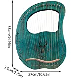 Lyre Harp, 19 Metal Strings Maple Saddle Mahogany
