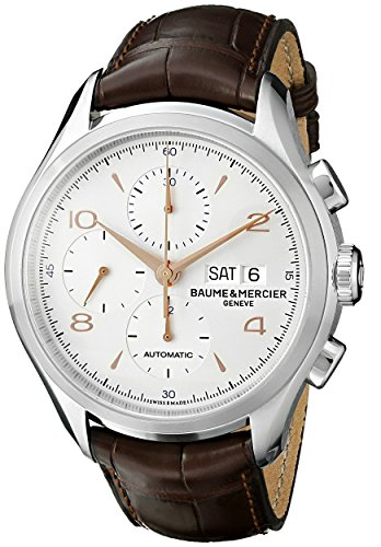 Baume-Mercier-Mens-BMMOA10129-Clifton-Analog-Display-Swiss-Automatic-Brown-Watch