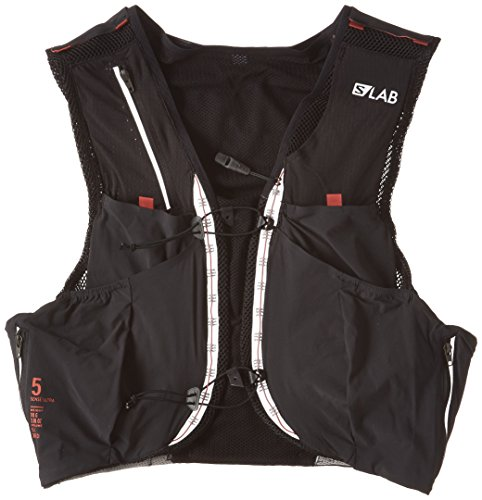 Salomon Unisex S-Lab Sense Ultra 5 Set Backpack, Black, Racing Red, M
