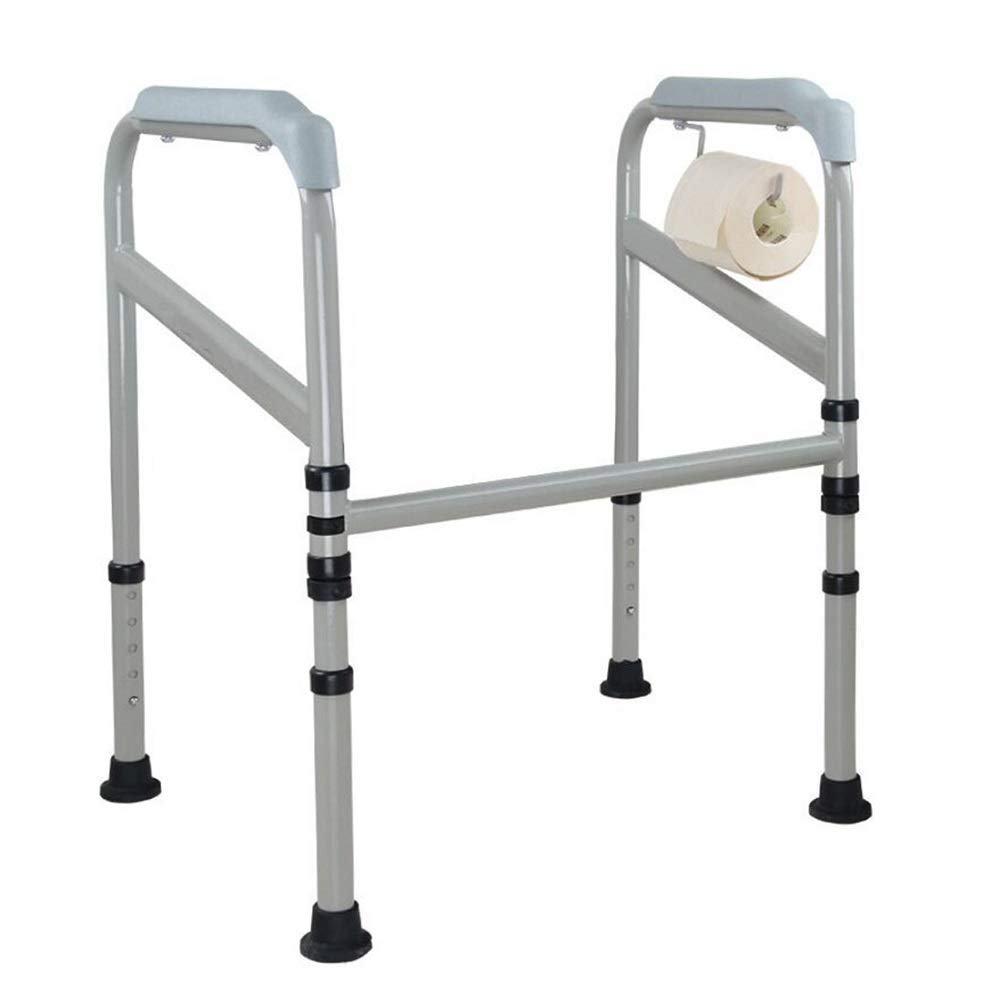 LMEIL Toilet Rails, Folding Steel Toilet Surround Frame, Adjustable Feet, Toilet Safety Frame, Ideal for Elderly & Disabled, Homecare Toilet Medical Use by LMEIL