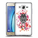 Official Monika Strigel Wolf Animals And Flowers Soft Gel Case for Samsung Galaxy On5